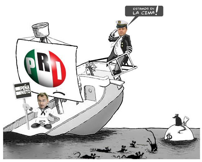 PENA NIETO EL BARCO SE HUNDE MEXICO PEÑA INEPTO