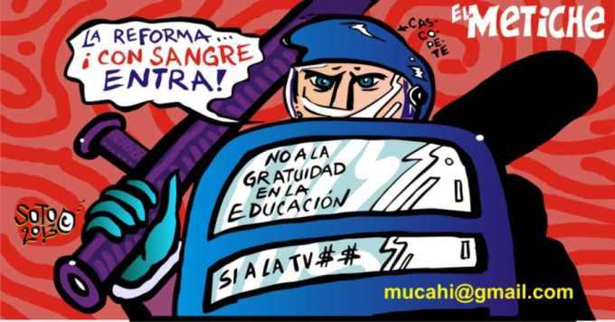 reforma a la educacion caricatura politica educativa de eduardos oto  el metiche mucahi bassoco